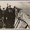 In April our U-Boat fleet was especially successful.  On April 8th the Supreme Command of the Armed Forces issued the special announcement that German U-Boats in the Atlantic  had sunk 16 merchant ships off the coasts of America and Africa totaling 104,000 BRT.  German U-Boat on patrol in the Atlantic.]
