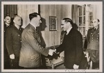 With the Reich Foreign Minister von Ribbentrop in attendance, the Fuhrer received the Iraqi Prime Minister Rashid Ali al-Gaylani.  The interview took place in the spirit of friendship that the German people feel toward the Arab peoples.