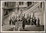 """On Heroes' Remembrance Day, the Führer spoke at the Berlin Arsenal in tribute to the dead of the World War and the War of 1939-40.  His words manifested the """"brass-bound"""" will of the nation to fight through to victory."""