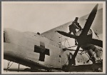 """This is what German sea rescue planes look like, easily identifiable by their white paint and Red Cross.  They are unarmed.  Despite this, British """"gentlemen"""" attack them with their machine guns."""