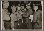 Everyone in the homeland is also ready, if required, to render the highest service.  In the name of the Führer, Chief of Staff Lutze awarded six men from Bremen the War Service Cross with Swords.