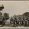 After entering the Brandenburg Gate, the victorious Condor Legion marches past the Fuhrer.]
