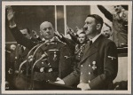 "[In his speech to the Reichstag on October 6th, the Fuhrer again offered the hand of peace and outlined the new order in eastern Europe.  ""But I do not doubt for a second that Germany wins""; the Reichstag and the entire nation joined in this affirmation with cheers.]"