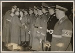 [The visit of the Italian Foreign Minister Count Ciano to Berlin and his long talk with the Fuhrer was a new confirmation of the unity of the two Axis powers.  Count Ciano greets Colonel-General Keitel.]