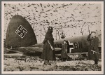 "[The German planes on the Western Front are well-camouflaged.  They are ready for attack at any minute.  The report of the Armed Forces Supreme Command describes it with a few words: ""The attempt made by hostile aircraft to fly over German territory failed.""]"
