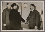 At his headquarters and in the presence of the Reich Foreign Minister the Fuhrer received the champion of the Indian independence movement, Subhas Chandra Bose, for an extended discussion.  At left envoy Dr. Schmidt.