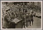 Reich Minister Alfred Rosenberg made an official trip to the liberated Eastern Territories. The Minister speaking to the ethnic German population in Chotitza near Zaporizhia