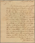 Letter to Francis Street, Philadelphia