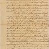 Letter to Gov. [James] De Lancey