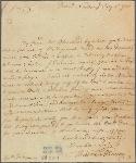 Letter to Gen. [Sir William] Johnson