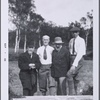 Eric Satie, John Quinn, Constantin Brancusi and Henri Pierre Roché at Fontainebleau, 1921