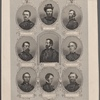 The generals of the west. [Center, and then clockwise from center, top:] Gen. Rosencrans. Gen. Grant. Gen. McClernand. Gen. Curtis. Gen. Thomas. Gen. W.T. Sherman. Gen. Prentiss. Gen. Lew Wallace. Gen. McCook