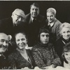 Edward Albee and the cast of All Over. Front Row (left to right): George Voskovec, Colleen Dewhurst, Edward Albee, Jessica Tandy, and Madeleine Sherwood. Top row (left to right): Neil Fitzgerald, James Ray, and Betty Field