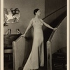 """[Lynn Fontanne in the original Broadway production of Noël Coward's """"Design for Living.""""]"""