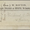 J.W. Bouton Booksellers, 1884