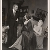 """[Clifton Webb, Mildred Natwick, and Peggy Wood in a scene from the original Broadway production of Noël Coward's """"Blithe Spirit.""""]"""
