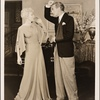 """[Haila Stoddard and Clifton Webb in a scene from the original Broadway production of Noël Coward's """"Blithe Spirit.""""]"""