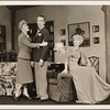 """[Peggy Wood, Clifton Webb and Haila Stoddard in a scene from the original Broadway production of Noël Coward's """"Blithe Spirit.""""]"""