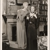 "[Haila Stoddard and Mildred Natwick in a scene from the original Broadway production of Noël Coward's ""Blithe Spirit.""]"