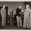 "[Philip Tonge, Valerie Cossart, Clifton Webb, and Haila Stoddard in a scene from the original Broadway production of Noël Coward's ""Blithe Spirit.""]"