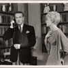 "[Clifton Webb and Haila Stoddard in a scene from the original Broadway production of Noël Coward's ""Blithe Spirit.""]"