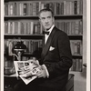 """[Clifton Webb in a scene from the original Broadway production of Noël Coward's """"Blithe Spirit.""""]"""