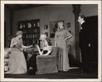 Peggy Wood, Valerie Cossart, Haila Stoddard, and Philip Tonge in a scene from the original Broadway production of Noël Coward's Blithe Spirit.