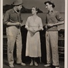 "[Broderick Crawford, Lynn Fontanne, and Philip Tonge in the original Broadway production of Noël Coward's ""Point Valaine.""]"