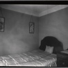 [Bedroom, middle class apartment; view of bed and bureau: Manhattan]
