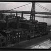 [Williamsburg Bridge; Lewis Greenberg Plumbing Supplies: Cherry St. - East St., Manhattan]