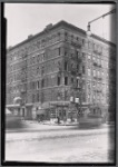 Tenement with fire damage; Rex Pastry Shop: 1st Ave.- E. 112th St., Manhattan