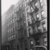 Apartment row; taxi