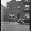 [Brick row house with Hebrew School on first floor: Saratoga Ave.-Riverdale Av-Livonia, Brooklyn]