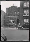 Brick row house with Hebrew School on first floor: Saratoga Ave.-Riverdale Av-Livonia, Brooklyn