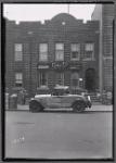Brick row house; Edward Larkin Lawyer offices on first floor: Saratoga Ave.-Riverdale Av-Livonia, Brooklyn