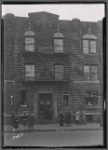 Brick apartment building with commercial tenants of first floor; kids : Saratoga Ave.-Riverdale Av-Livonia, Brooklyn