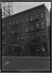 Tenements & storefronts; Fred Zimmerman Groceries: 569 Saratoga Ave-Sutter-Pitkin, Brooklyn