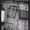 Flexible Flyer sled stored in basement