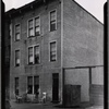 Row house with residents