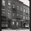 [Tenement row; Jos. Mickus Tailor: 75-79 Hudson Ave-Front-Water St., Brooklyn]
