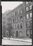 Tenement row; children pl