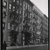 "[Tenement row, ""Tuskegee Apartments"": 213 W. 62nd St.-AmsterdamAv-West End, Manhattan]"