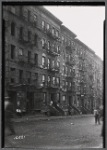 Tenement row, S. Haywood Delicatessen, Marion beer garden: 236 W. 62nd Street-Amsterdam-West End, Manhattan