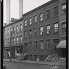 [Brick tenements & storefronts; Sanitary Barber Shop: 39-45 Hudson Av-Plymouth-John, Brooklyn]