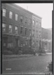 Tenement row (front view #17563), Lincoln Calsomine Co.: 30 Hudson Ave - John St., Brooklyn