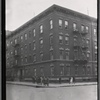 [Apartment building; women and children outside: Bronx]