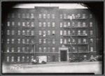 Apartment house with M. Lennartz Beauty Parlor on first floor; Karsten's Milk Truck: 244 [street unknown], Bronx]