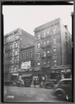 Tenements & storefronts; Heights Food Ctr, Swift Cleaners, Freedberg Grocer: 4224-4232 B'way-W 179th St-W 180th St, Manhattan