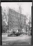 Apartment building; delivery truck with refrigerator: 612 [street unknown]]