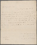 Autograph letter signed to George III, 1 August 1787
